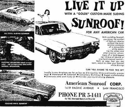 oo1964 ASC Ad asc, american sunroof corporation, asc custom craft, heinz c
