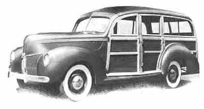 Image result for FORD 1940 WOODEN BODY VANS