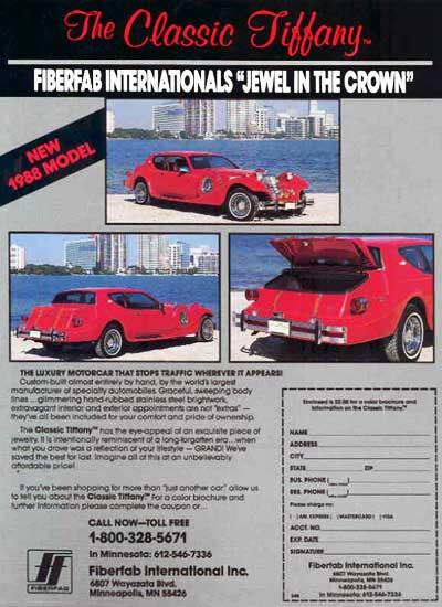 Classic Motor Carriages, CMC, kit car, Gazelle, Tiffany