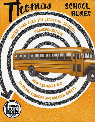 Thomas school bus history,Perley A  Thomas Car Works, Thomas