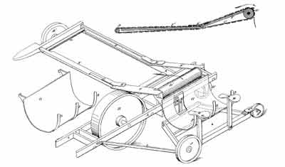 vintage threshing machine self propelled