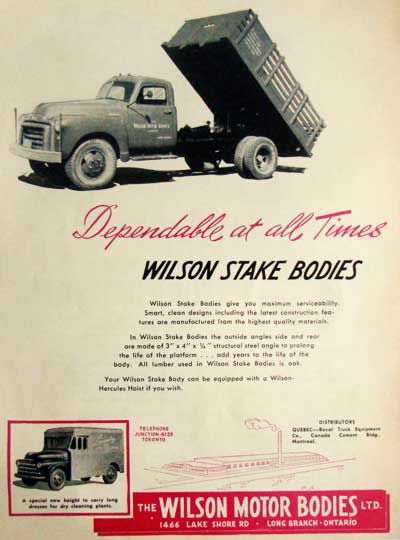 Wilson Motor Bodies Toronto Wilson Motor Body Co The